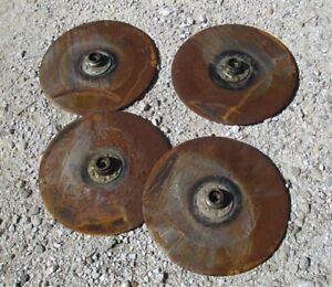 4 Plow Disc Blades Industrial Age Steampunk Tractor Wheel Planter John Deere A11
