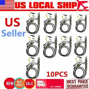 10pc 1 2probe P6100 Dc 100mhz Oscilloscope Scope Clip Test Leads For Tektronix w