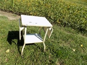 Typewriter Table Industrial Age Stand Metal Office Desk Mid Century Vintage T