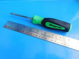 New Snap On 4 In 2 Phillips Green Soft Handle Screwdriver Sgdp42irb