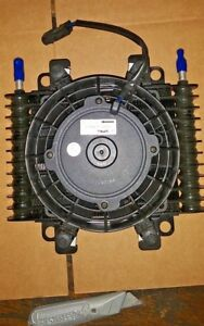 New Hd Differential Power Str Transmission Engine Oil Cooler With Spal Fan
