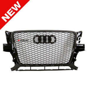 2009 2012 Audi Q5 Euro Rsq5 Style Honeycomb Mesh Grille Gloss Black