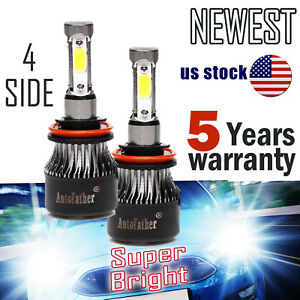 Pair H11 Led Headlight Bulbs For Chevy Silverado 1500 2008 2016 Camaro 2012 2016