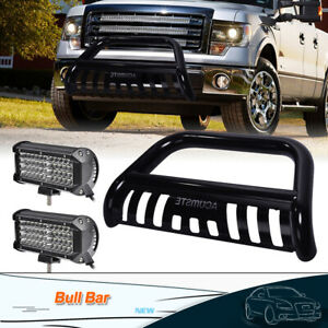3 Front Bull Bar Bumper Grille Guard 7 Work Light For Ford F 150 Expedition