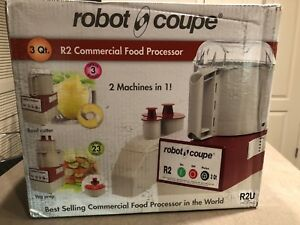 Robot Coupe Commercial Food Processor 3 Quart Stainless Steel Bowl Powerful 1h