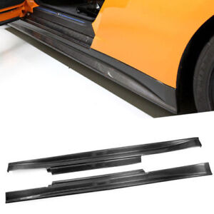 Carbon Fiber Side Skirt Underboard Panel Lip For Nissan R35 Gtr Zele Style