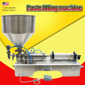Automatic Paste Filling Machine Hopper Sauce cosmetic cream honey 100 1000ml Bin
