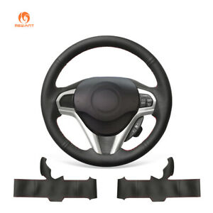 Diy Black Artificial Leather Steering Wheel Cover For Honda Cr Z Crz 2011 2016