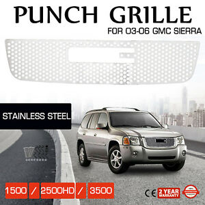 Grille For 2003 2006 Gmc Sierra 1500 2500hd 3500 Front Main Upper Chrome Color