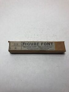 Nos Baltimore Type 8 Point Series 38 Figure Font Letterpress Printing Press
