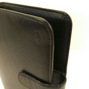 Hartmann Black Leather 6 Ring Planner Organizer Franklin Covey Compact Size