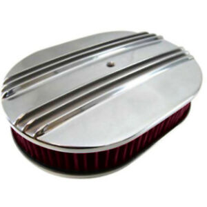 Mustang Cj Classics Air Cleaner Aluminum Dual Finned Oval 12 X2