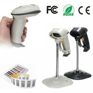 Automatic Barcode Scanner Usb Laser Scan Barcode Reader With Stand Handheld Pos