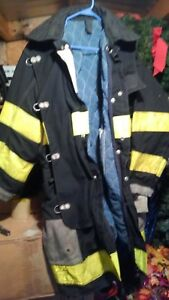Firefighter Turnout Bunker Coat 44x34 Black