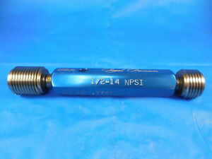 1 2 14 Npsi Pipe Thread Plug Gage 5 Go No Go Pds 7745 7812 Inspection