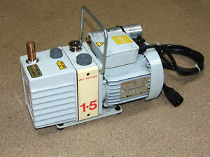 Edwards E2m1 5 Vacuum Pump Rotary Vane 3 8 Outlet Hp G1099 80023 115v