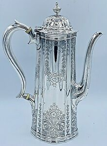 Stunning Rare Antique Tiffany Co Sterling Coffee Pot
