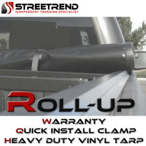 Lock Roll Up Tonneau Cover For 14 15 18 Chevy Silverado gmc Sierra 6 5 Ft Bed