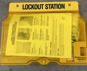 Master Lock Safety Lockout Station Filled 4 Padlocks Part 1482bp410