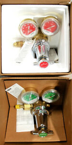 Ltec Linde Esab Two stage Industrial Oxygen Acetylene Regulators