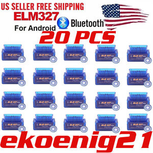 Us Mini Bluetooth Obd2 Android Torque Obdii Elm327 V2 1 Adapter Auto Scanner X20