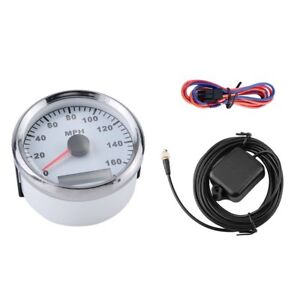85mm White Gps Speedometer Waterproof 160mph For Car Truck Motorcycle