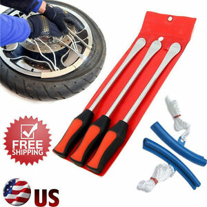 Spoon Motorcycle Tire Iron Changing Rim Protector Tool Combo New Lever 3pcs Hm