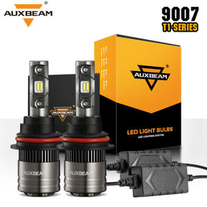 Auxbeam 70w 8000lm Hi lo Dual Beam 9007 Led Headlight Bulb Kit Canbus Decoder
