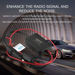 12v Ant 208 Car Automobile Fm Antenna Radio Signal Booster Amplifier Amp H5