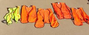 Ppe Construction Safety Vest Orange Or Yellow Lightweight Mesh Qty 5
