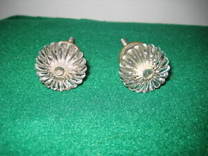 2 Pair Of Antique Cheval Mirror Fancy Glass Hardware Bolts Screws Mint