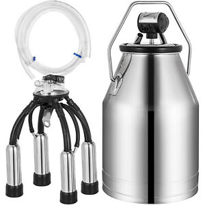 Electric Milker Bucket 25l Milking Machine Portable Tank Solid Chemical free
