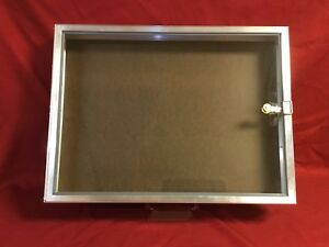 Aluminum Display Case End Opening 18 X 24 X 31 4 Knives Cards Gun Jewelry