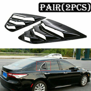 Fit For 2018 2019 Toyota Camry Sedan Rear Side Window Louver Sun Shade Covers