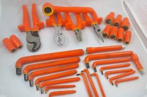32 Piece 1000v Insulated Tools Electrical hex Wrench Set Ratchet Socket Set