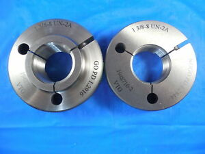 1 3 8 8 Un 2a Vermont Thread Ring Gages 1 375 Go No Go P d s 1 2916