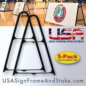 Small A frame Sidewalk Sign Frame 18 x24 And Up Expandable 5 pack