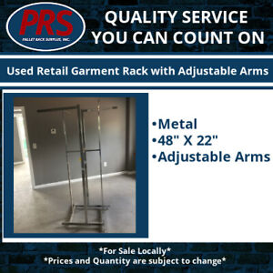 Used Retail Garment Rack With Adjustable Arms