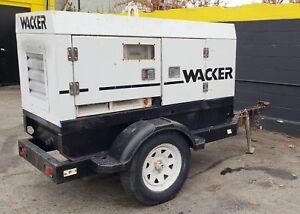 Wacker G25 Generator Genset On Trailer 25 Kva 5 106 Hours Ready To Work