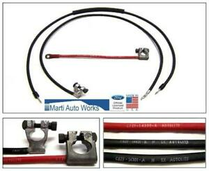1968 1969 Mustang 428 Cobra Jet Battery Cable Set Oem Marti Auto Works