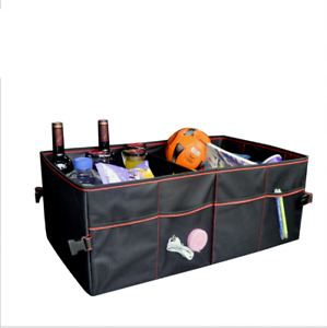 Car Trunk Organizer Auto Durable Collapsible Cargo Storage Containers black