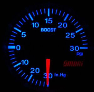 Omori 52mm Electrical Boost Turbo Gauge With Perfect Match Mk4 Vw Blue Backlight