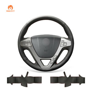 Black Artificial Leather Car Steering Wheel Cover Wrap For Acura Mdx 2007 2013