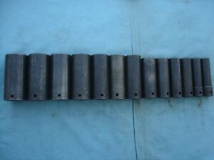 Large Snap on 1 2 Deep Impact Socket Set sim400 1 2 1 1 4 13 Pc X lnt