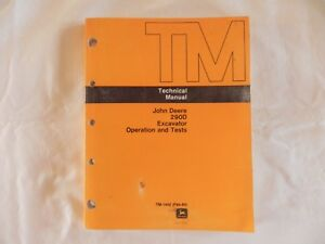 John Deere 290d Excavator Operation And Tests Technical Manual Tm 1442