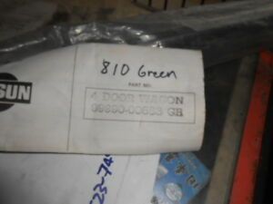 Datsun 810 Wagon Four Door Green Side Moldings Nos Stick On Rare Parts