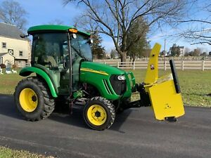 2010 John Deere 3320 Tractor Snowblower Loader Snowplow Factory Cab