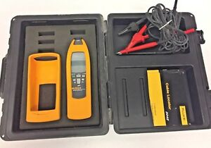 Fluke 2042 Cable Locator 2042r Receiver Case Cables Manuals Used
