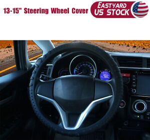 Black Car Steering Wheel Cover Silicone Protector Sturdy Massage Grip