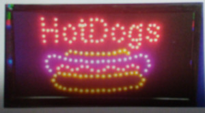 Hot Dog Neon Led Sign store Sign fast Food To Go Shop Sign business Window Sign
